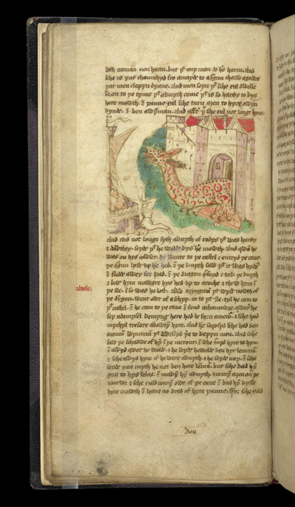 Hippocrates' Daughter As A Dragon Kills A Knight, In 'The Travels Of Sir John Mandeville'